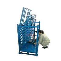 Customized Rectangular Stackable Steel Heavy Duty Industry Warehouse Storage Wire Basket Pallet For Glass Sheets