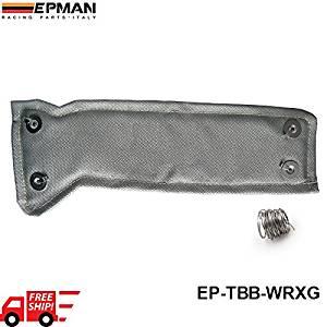 Nowry (TM) AUTOFAB -- EPMAN Brand Turbo Heat Shield /Turbocharger Blanket WRAP+SPRING FOR Subaru WRX EP-TBB-WRXG (Color: Gray)