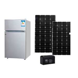 Double door dc 12v solar fridge refrigerator