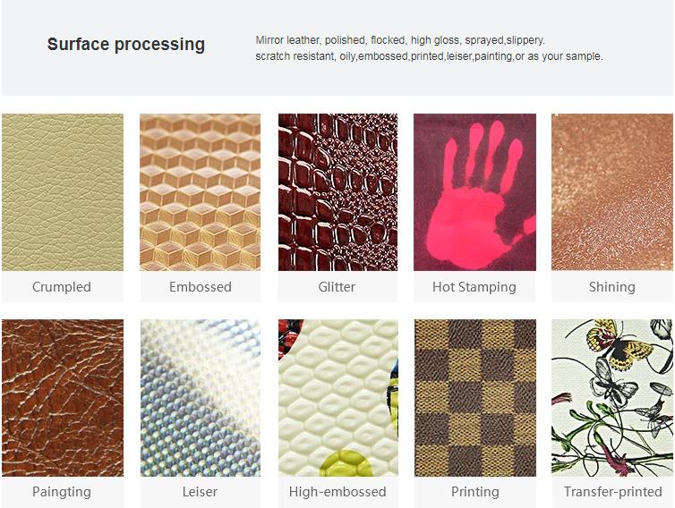 דפוס פרחים באיכות גבוהה מלאכותי פו עור עבור נעלי תיק