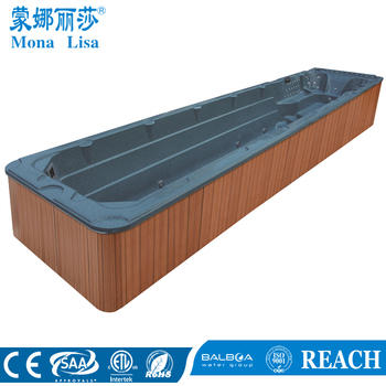 chinese outdoor hot tub large swim spa hot swim pool with 72 surf jets
