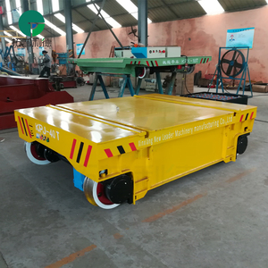 Cable drum powered steerable platform bay to bay transfer wagon