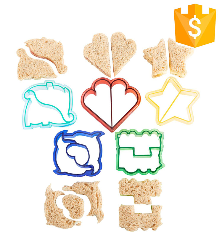 School lunch animal shape 3D toast bread sandwich crust cutter