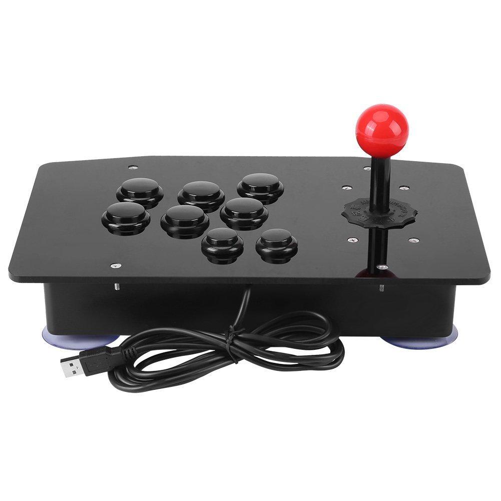 Arcade Fight Stick Games Machine USB PC Home,Red Joystick Zero Delay Classical Game Controller