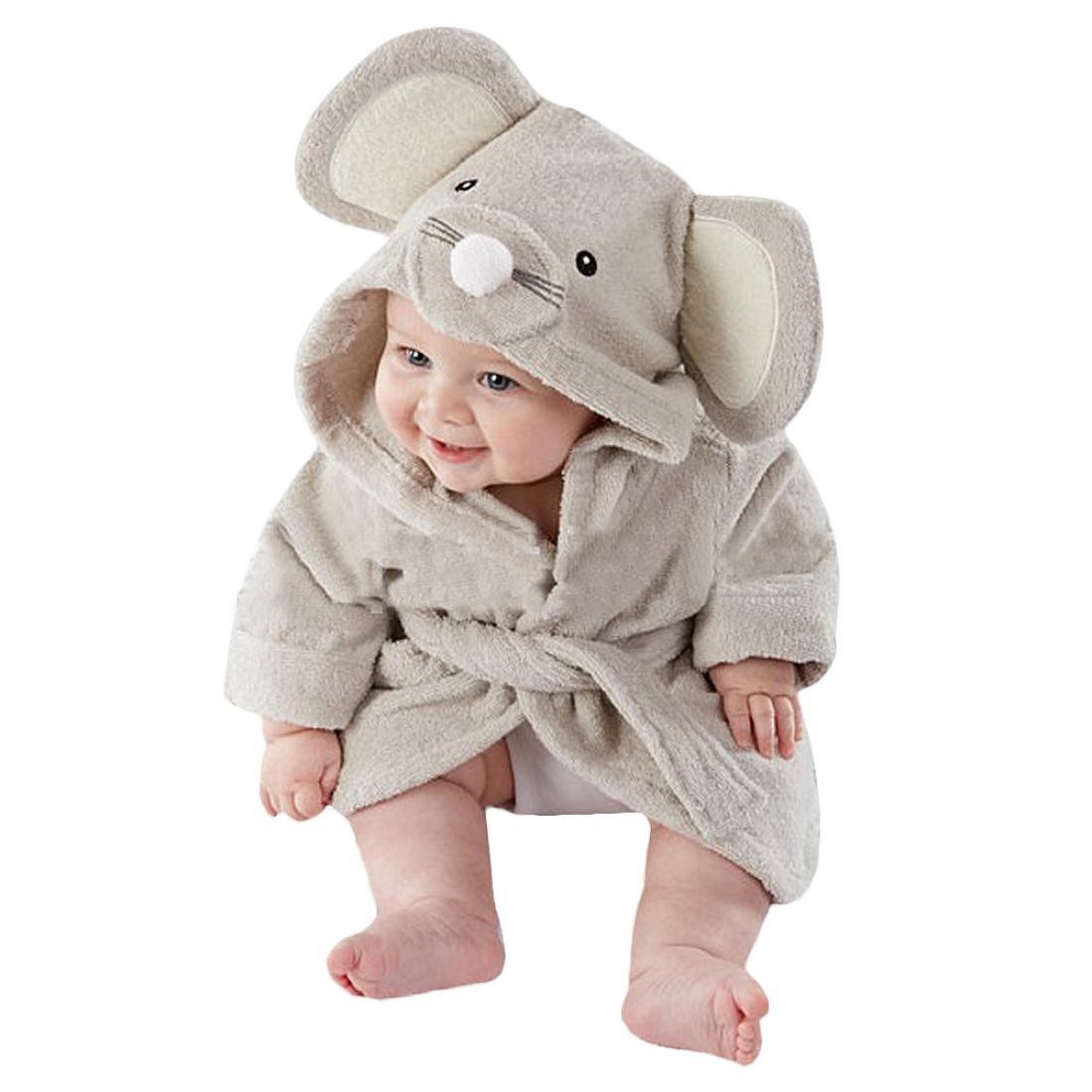 Ikevan Cute Designs Hooded Animal modeling Baby Bathrobe Cartoon Baby Towel (Chimpui)