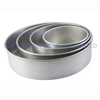 Aluminum Round Cake Pan Straight or Tapered NSF Approved