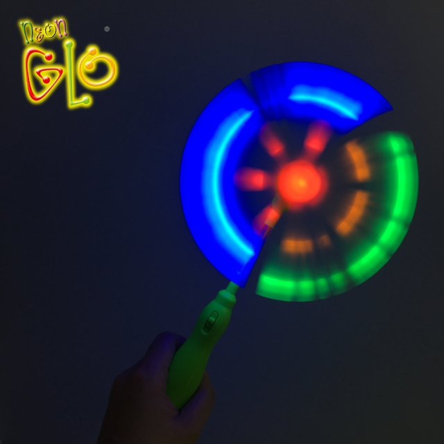 Kid Favor Light Up LED Plastic Spinning Windmill Glow in the dark