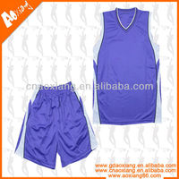 100% polyester inter lock double face basketball uniform