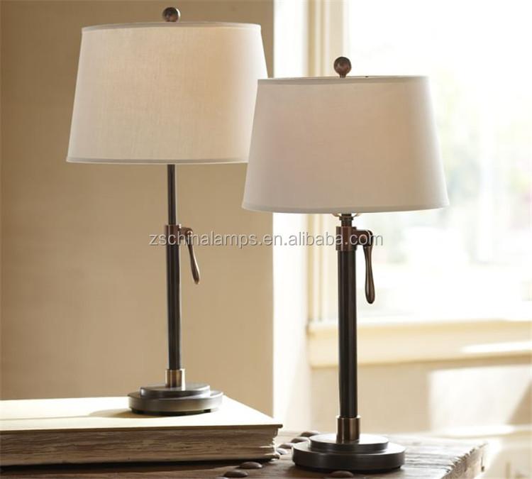 U Shape Decorative Modern Metal Bedside Table Lamps