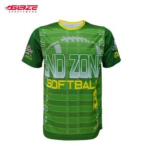 Wholesale good quality 100% polyester custom blank sublimation softball wear
