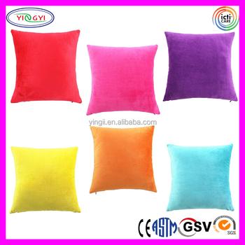 E190 Super Soft Plush Solid Color Throw Pillow Cover Case
