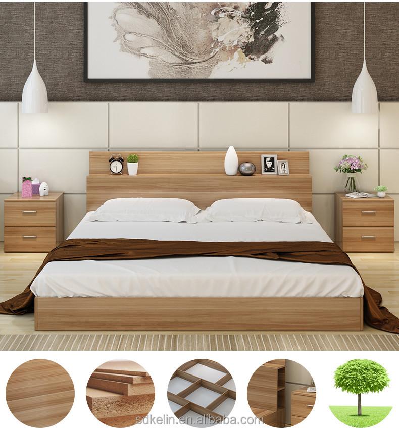Hot Sale Bedroom Furniture Simple Design Panel Wood Bed - Buy Modern Wood  Bed Designs,Wood Double Bed Designs,Wood Bed Designs Product on Alibaba.com