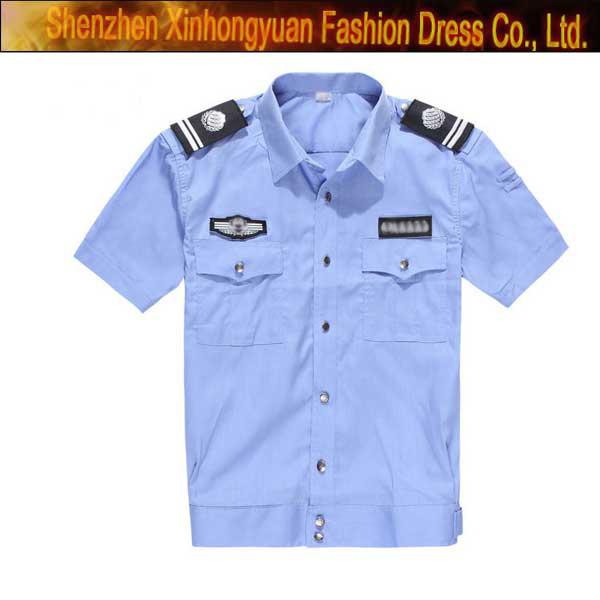Security Uniform Shirt - Free Real Tits-6699