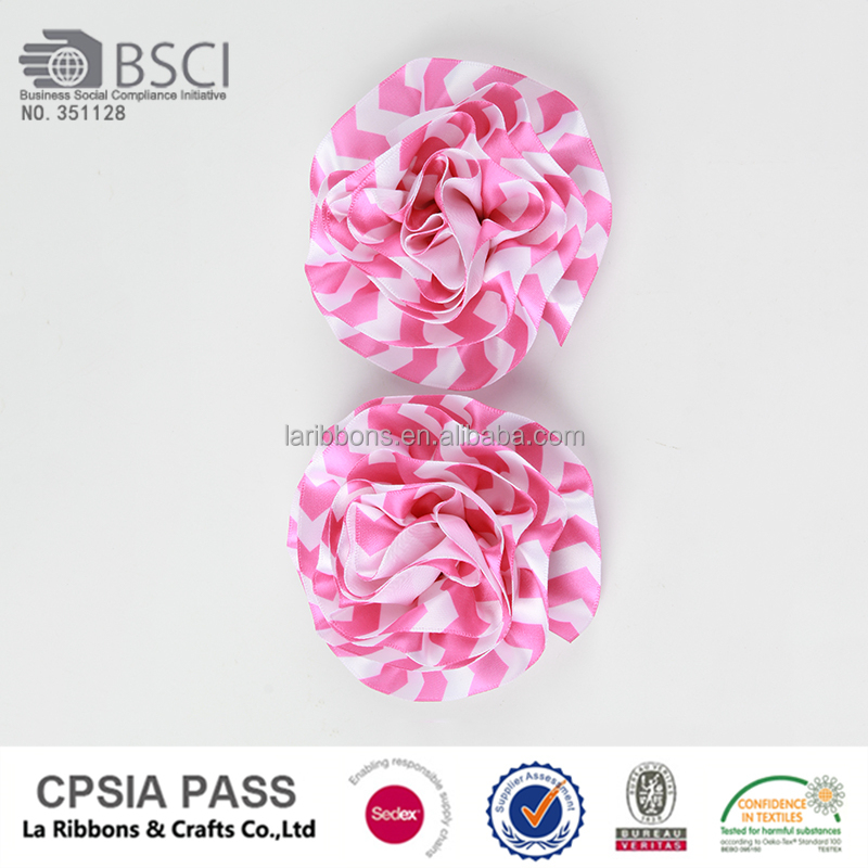 Wholesale artificial description ribbon rose flower making for sale