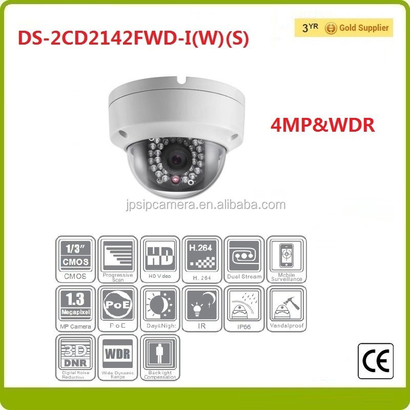 2016 Newest Hikvision 4 megapixed ip camera DS-2CD2142FWD-I(W)(S) day and night network CCTV camera