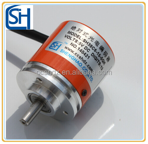 Solid Shaft 38mm Rotary Encoder with Revolution 12500 PPR Sensor Counter