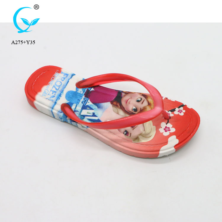 Wedge sandals eva slipper for kids with pvc upper daily use sandals