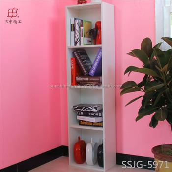 European Style Furniture Simple Solid Wood White Oak Bookshelf Bookcase