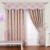 home automation electric curtains with valance swag curtains