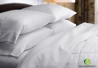 500 Thread Count Plain White Hotel Flat Sheets