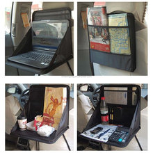 Car Laptop/Eating Back Seat Holder Desk Multi-Functional Portable Travel Seat Pad Drink Work Mount Stand Holder Table Organize