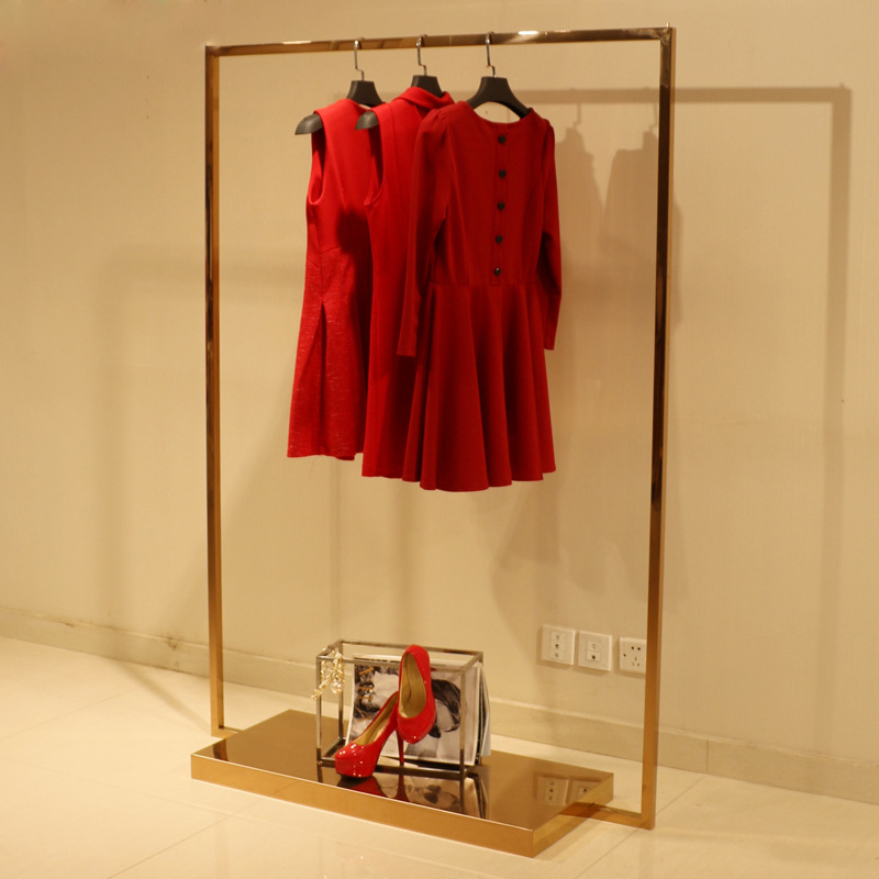 Metalen Goud Kleur Kleding Opknoping Display Showcase Stand