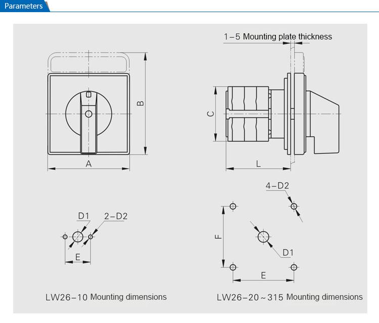 saip  saipwell manual lw26 series 1-0-2 3p 63a socomec manual change over switch