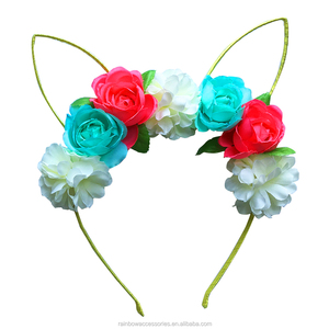 chinese hair accessories bear ears headband flower unicorn supreme headband