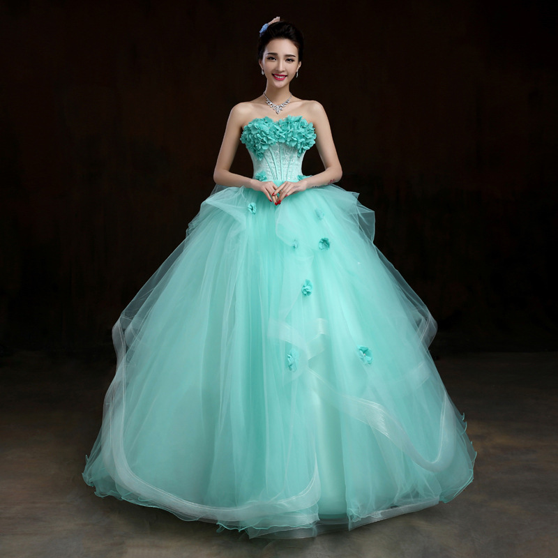 Super vestito da sposa verde all'ingrosso-Acquista online i migliori  FG32