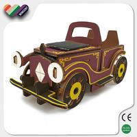 Solar Running Car 3D Puzzle Wood