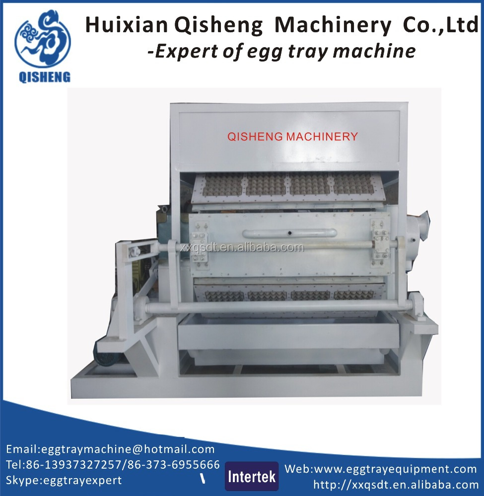 Eggs tray and egg box making machine/paper recycled egg carton making machine/paper egg tray plant