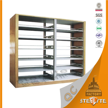 school library used easy assembled 6 tier steel library shelves rh alibaba com used library shelving, pomona ca used library bookshelves