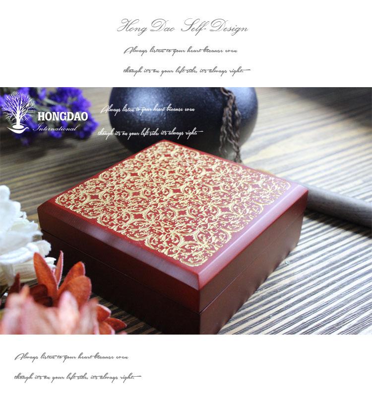 Hongdao luxury red jewelry box velvet necklace gift boxes for Red velvet jewelry gift boxes
