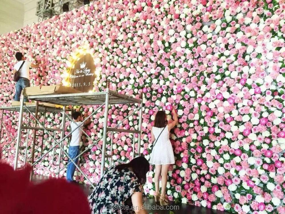 romantique con u fleur mur d coration de mariage soie rose fleur fleurs guirlande de. Black Bedroom Furniture Sets. Home Design Ideas
