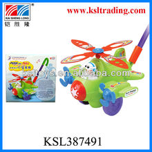 hot sale funny push airliner toys children hand push toy
