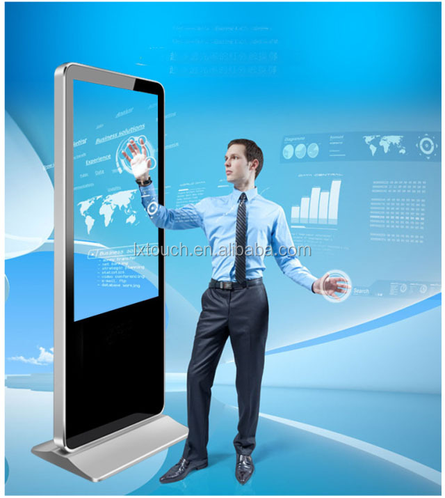 Floor standing lcd touch screen advertising player