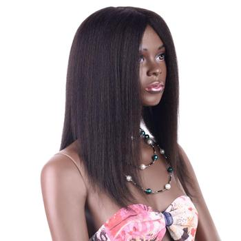Brazilian Virgin remy hair wig price on wholesale Yaki Straight hair wig  suppliers and manufactures
