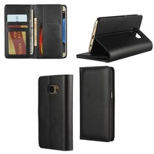 Leather case for Samsung S7 ,luxury retro black cover wallet leather case for Sumsung S7