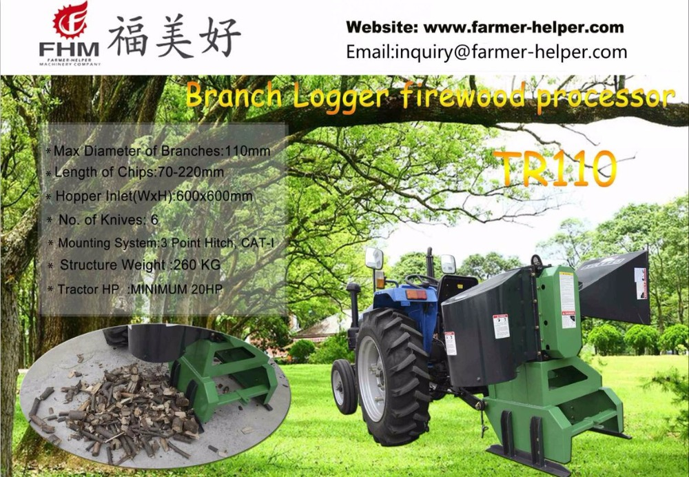 Branch logger pto firewood processor for sale