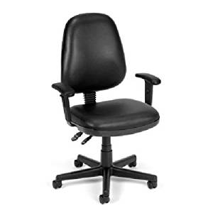 BEF5049925 - Best Black Vinyl Posture Chair with adjustable arms 118-2-606AA