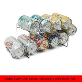 Soda Beer Coke Can Dispenser Refrigerator Beverage Rack Metal Storage