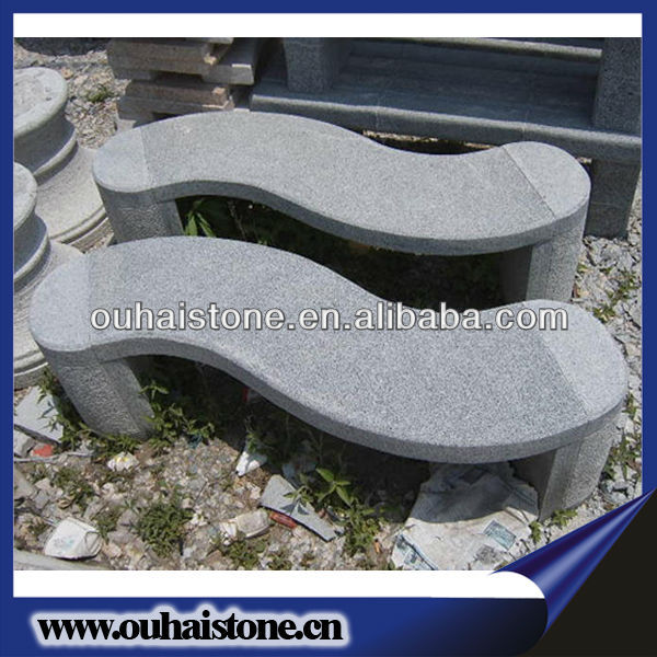 Good Style Polished Garden Stone Bench In Arc Design