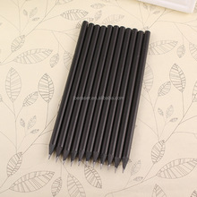 hotel use high quality black wood hb pencil with logo printed