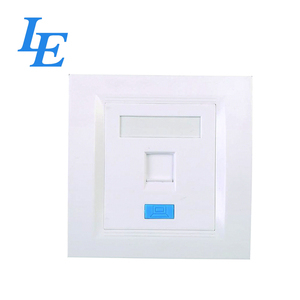 Telecommunication customized metal FacePlate with RJ45 module