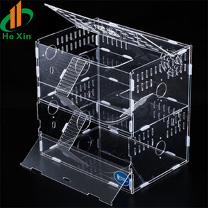 hot sale transparent acrylic hamster cage