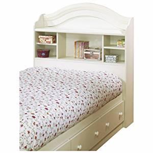 "Summer Breeze Twin Bookcase Headboard (39"") White Wash"