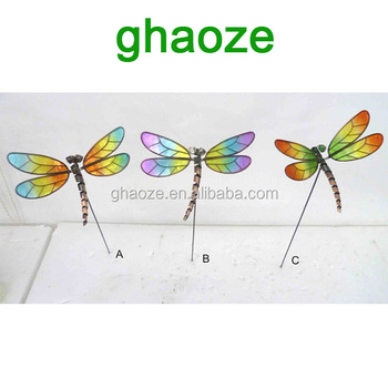 3pcs Per Set Garden Dragonfly Metal Garden Stake Wholesale Factory