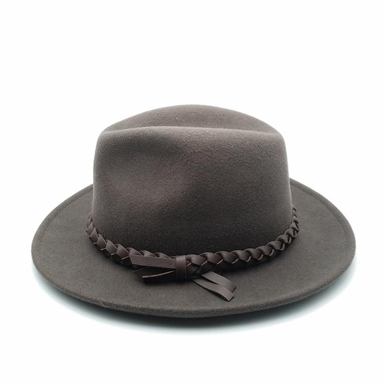 ba73c8bd444716 Wholesale Black Grey Wool Felt Fedora Hats - Buy Handmade Felt Hat ...