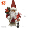 Christmas 2018 standing santa claus With big white present and lantern