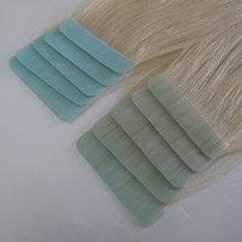 pu tape weft in hair extension 100% human hair Grade AAA 18inch #33 light color free shipping